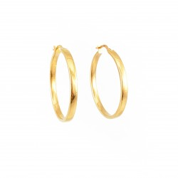 Square Wire Gold Hoops