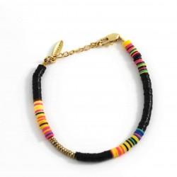 Bracelet Heishi noir