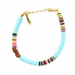 Bracelet Heishi Bleu ciel