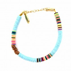Light Blue Heishi Bracelet