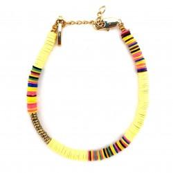 Bracelet Heishi Jaune