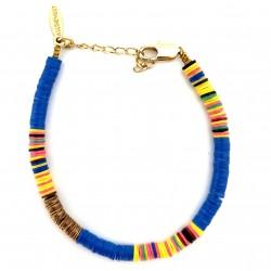 Bracelet Heishi Bleu