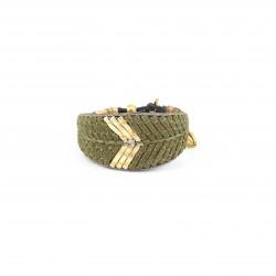 Bracelet Ostra Kaki