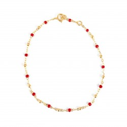 Gold Red Resy Bracelet